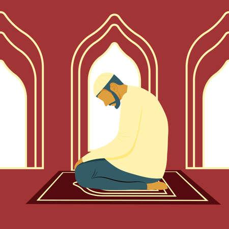 Muslim man praying to God