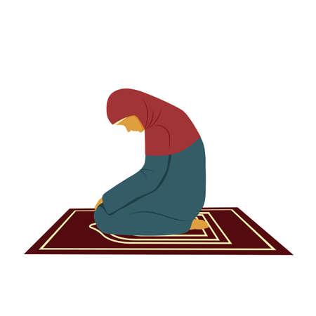 Muslim woman praying to Allah