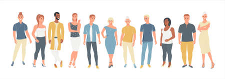 Group of people of different ages