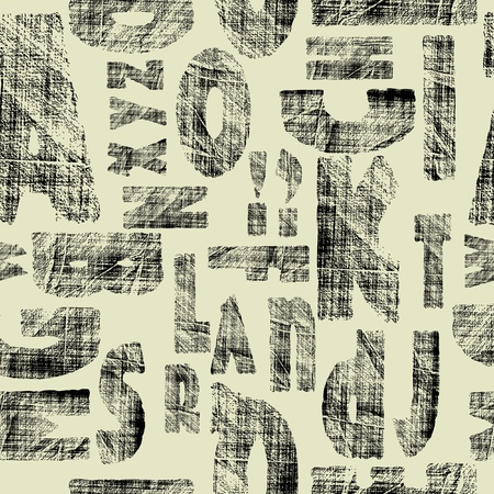 art drawing set of alphabet seamless photo