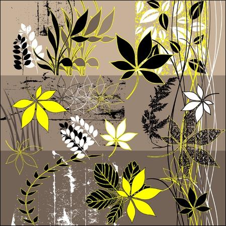 autumn motif: art vintage pattern background  Stock Photo