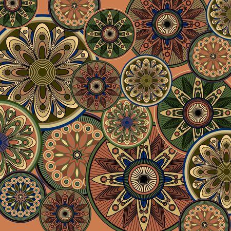 ornamental design: art vintage pattern background