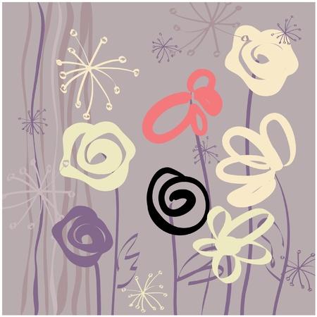 garden wall: art vintage pattern background