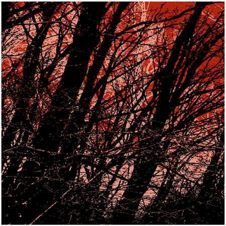 art trees grunge background photo