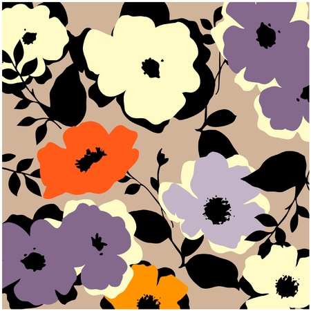 vintage floral: art vintage pattern background