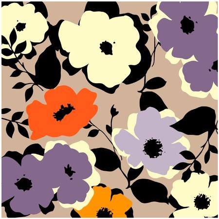 motif floral: patron vintage art fond