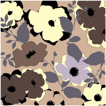 material flower: art vintage pattern background