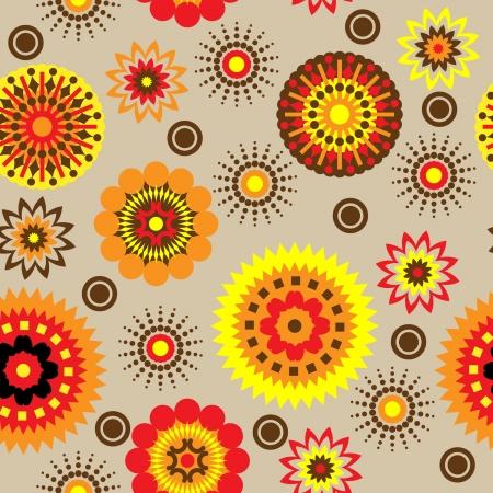art vintage floral seamless pattern background  photo