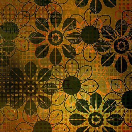 art floral ornament grunge background photo