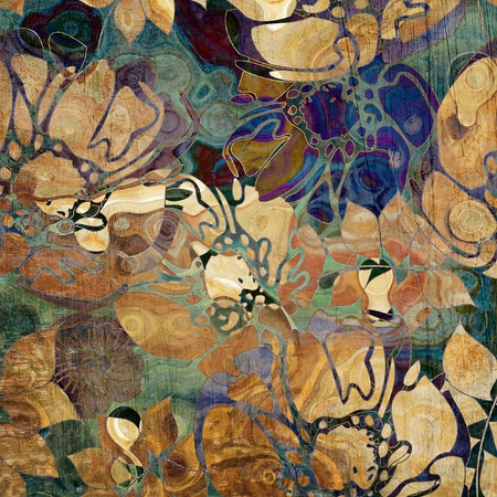 art abstract: art floral ornament grunge background