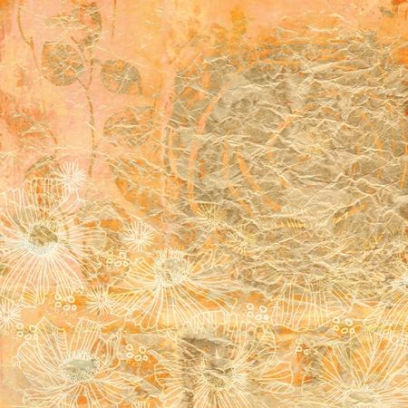art grunge floral background card photo