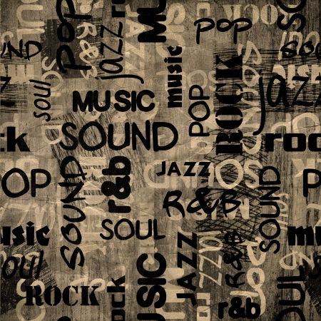 soul music: art urban graffiti raster background