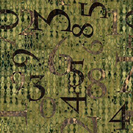 art grunge background with numbers photo