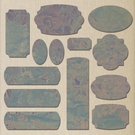 art set of vintage frame label photo