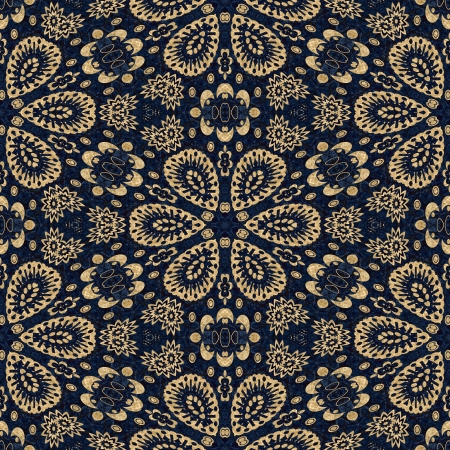 blue damask: art vintage damask seamless pattern background