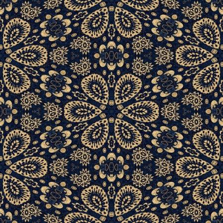 kunst uitstekende damast naadloze patroon achtergrond