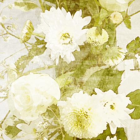 kunst Bloemen grunge achtergrond Stockfoto