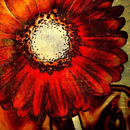 grunge leaf: art floral grunge graphic background