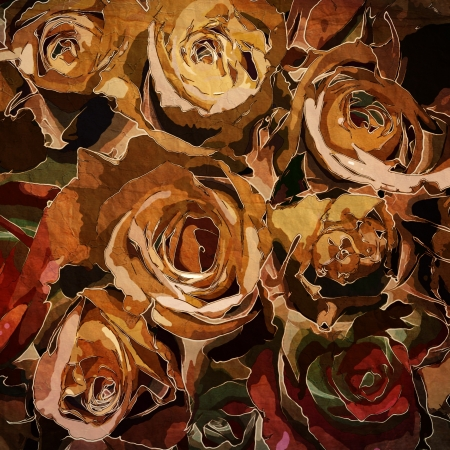 art floral vintage colorful background Stock Photo - 13997936