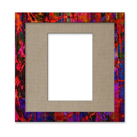 art photo frame, isolated on white background photo