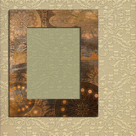 scrap trade: cornice arte su pattern di sfondo Archivio Fotografico