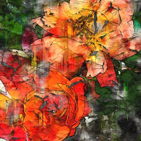art floral grunge graphic background Stock Photo - 13998012