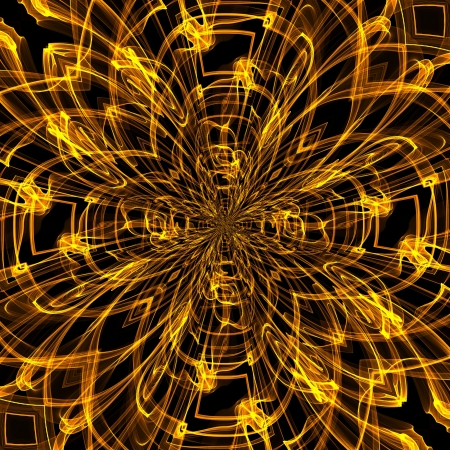 psychedelic: art abstract golden pattern background Stock Photo