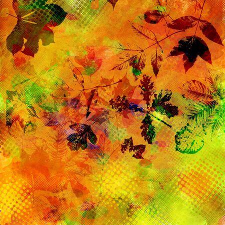 art leaves autumn background card photo
