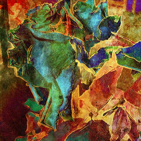 ancient scroll: art floral grunge graphic background
