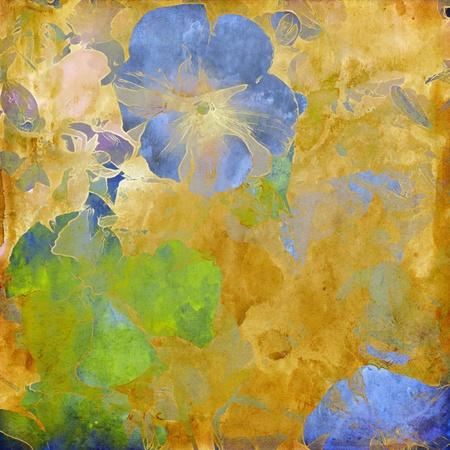 ancient scroll: art grunge floral vintage background texture