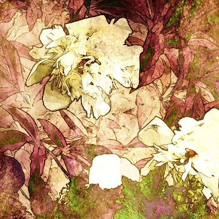 art grunge floral vintage background texture photo