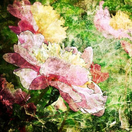 art floral vintage colorful background  photo
