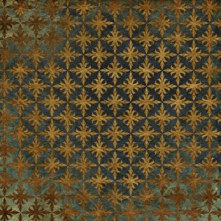 art vintage grunge background with damask  patterns
