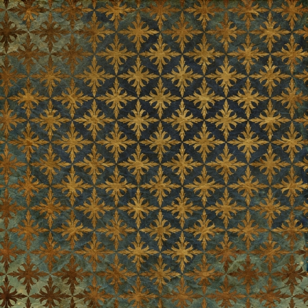 art vintage grunge background with damask  patterns  photo