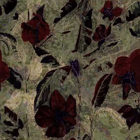 art vintage floral pattern background  photo