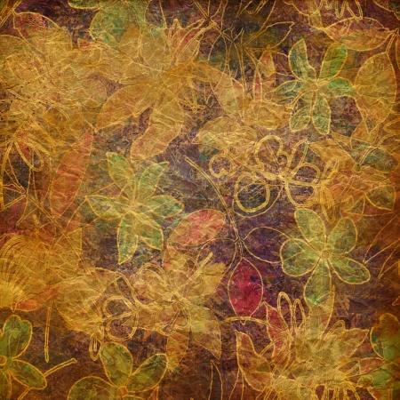 art vintage floral pattern background  photo