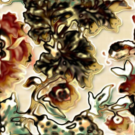 art vintage floral pattern background Stock Photo - 14057875