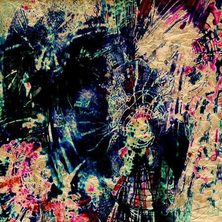 art abstract rainbow pattern background Stock Photo - 14057775