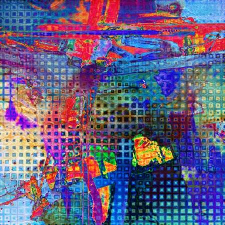 art abstract rainbow pattern background Stock Photo - 14057777
