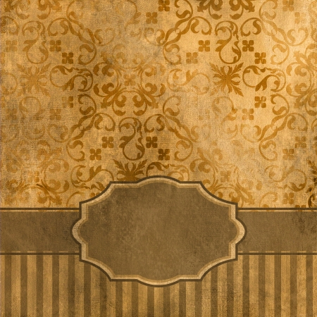 art vintage grunge background with damask  patterns  Stock Photo - 15019840