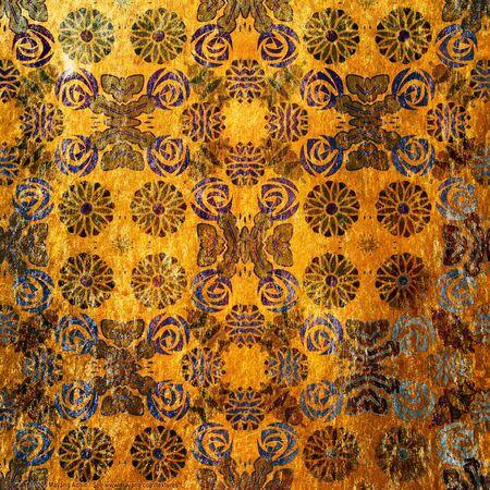 art vintage grunge background with damask  patterns Stock Photo - 15020916