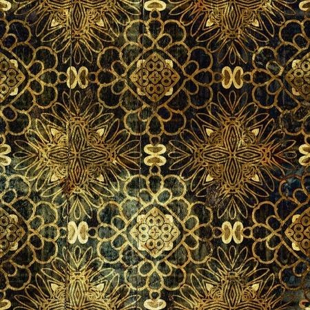 art vintage grunge background with damask  patterns  photo