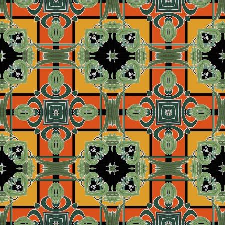 art nuvo colorful ornamental vintage pattern Stock Photo - 15061428