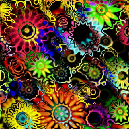 art glass floral colorful background photo