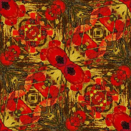art nuvo colorful ornamental vintage pattern Stock Photo - 15082915