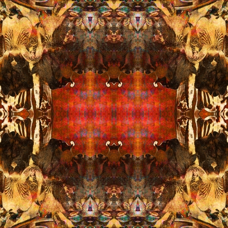 art nuvo colorful ornamental vintage pattern photo