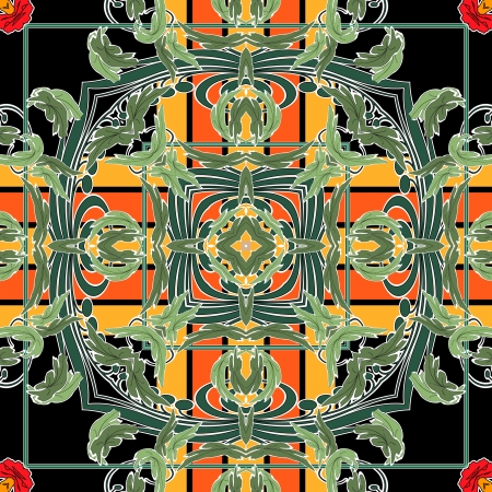 art nuvo colorful ornamental vintage pattern Stock Photo - 15082603
