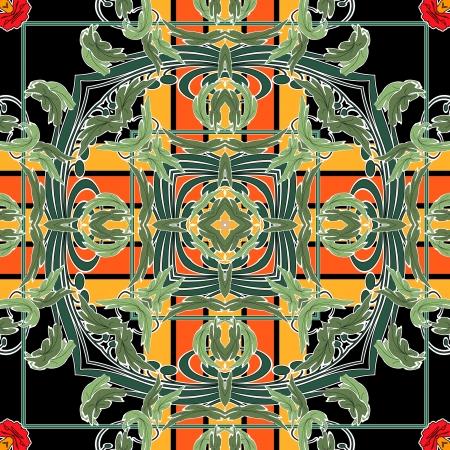 art nuvo colorful ornamental vintage pattern Stock Photo - 15082603