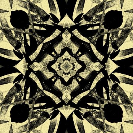 Kunst Vintage geometrische sier patroon Stockfoto