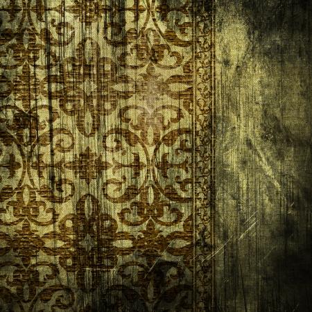 damask pattern: art vintage grunge background with damask  patterns